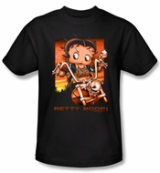 Betty Boop Kids T-shirt Sunset Rider Youth Black Tee Shirt