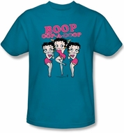 Betty Boop Kids T-shirt The Boops Have It Youth Turquoise Tee Shirt