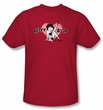 Betty Boop Kids T-shirt  Vintage Cutie Pup Youth Red Tee Shirt