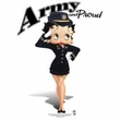 Betty Boop Ladies T-shirt Army Boop White Tee Shirt