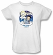Betty Boop Ladies T-shirt Betty Bye White Tee Shirt
