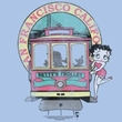 Betty Boop Ladies T-shirt Betty's Trolley Light Blue Tee Shirt