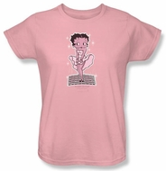 Betty Boop Ladies T-shirt Hollywood Legend Pink Tee Shirt
