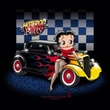 Betty Boop Ladies T-shirt Hot Rod Boop Black Tee Shirt
