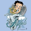 Betty Boop Ladies T-shirt I Believe In Angels Light Blue Tee Shirt