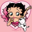 Betty Boop Ladies T-shirt I Love Betty Pink Tee Shirt
