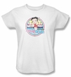 Betty Boop Ladies T-shirt Miami Beach White Tee Shirt