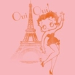 Betty Boop Ladies T-shirt Oui Oui Pink Tee Shirt