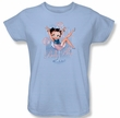 Betty Boop Ladies T-shirt Pink Champagne Light Blue Tee Shirt