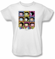 Betty Boop Ladies T-shirt Shes Got The Look White Tee Shirt
