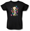 Betty Boop Ladies T-shirt Tripple Xo Black Tee Shirt
