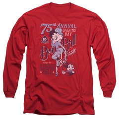Betty Boop Long Sleeve Shirt Boop Ball Red Tee T-Shirt