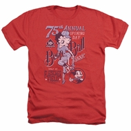 Betty Boop Shirt Boop Ball Heather Red T-Shirt