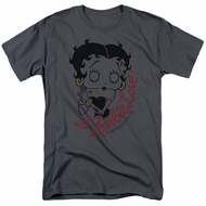 Betty Boop Shirt Classic Zombie Charcoal Tee T-Shirt