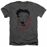 Betty Boop Shirt Classic Zombie Heather Charcoal T-Shirt