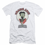 Betty Boop Slim Fit Shirt Breezy Zombie Love White T-Shirt
