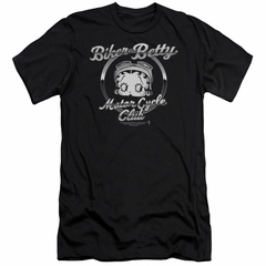 Betty Boop Slim Fit Shirt Chromed Logo Black T-Shirt