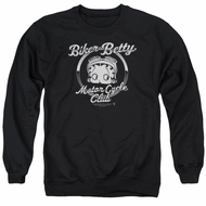 Betty Boop Sweatshirt Chromed Logo Adult Black Sweat Shirt