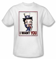 Betty Boop T-shirt Auntie Boop Adult White Tee
