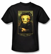 Betty Boop T-shirt Boopalisa Adult Black Tee
