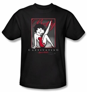 Betty Boop T-shirt Captivating Adult Black Tee