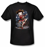 Betty Boop T-shirt Country Star Adult Black Tee