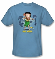 Betty Boop T-shirt Hula Honey Adult Carolina Blue Tee
