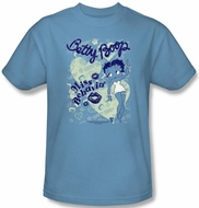 Betty Boop T-shirt Miss Behavin Adult Carolina Blue Tee Shirt