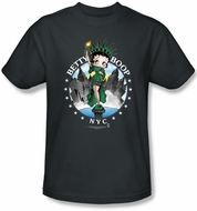 Betty Boop T-shirt NYC Adult Black Tee