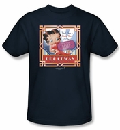 Betty Boop T-shirt On Broadway Adult Navy Blue Tee