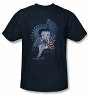 Betty Boop T-shirt Proud Betty Adult Navy Tee Shirt
