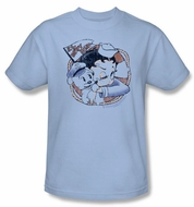Betty Boop T-shirt S.s. Vintage Adult Light Blue Tee