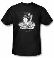 Betty Boop T-shirt Street Angel Adult Black Tee Shirt