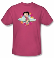 Betty Boop T-shirt Surf Adult Hot Pink Tee