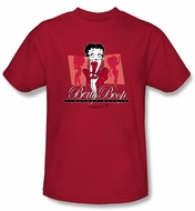 Betty Boop T-shirt Timeless Beauty Adult Red Tee