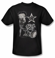 Betty Boop T-shirt With The Band Adult Black Tee
