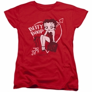 Betty Boop Womens Shirt Boop Ball Red T-Shirt