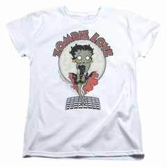 Betty Boop Womens Shirt Breezy Zombie Love White T-Shirt