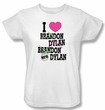 Beverly Hills 90210 Ladies T-shirt I Heart 90210 White Tee Shirt