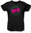 Beverly Hills 90210 Ladies T-shirt TV Show Neon Logo Black Tee Shirt