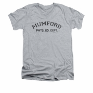 Beverly Hills Cop Shirt Slim Fit V Neck Mumford Athletic Heather Tee T-Shirt