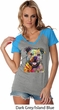 Beware of Pit Bulls Ladies Contrast V-Neck Shirt