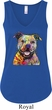 Beware of Pit Bulls Ladies Flowy V-neck Tanktop
