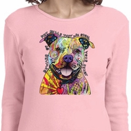 Beware of Pit Bulls Ladies Long Sleeve Shirt
