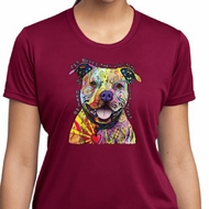 Beware of Pit Bulls Ladies Moisture Wicking Shirt