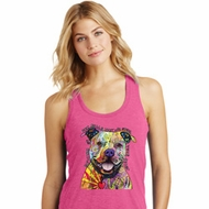 Beware of Pit Bulls Ladies Racerback Tank Top