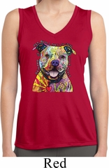 Beware of Pit Bulls Ladies Sleeveless Moisture Wicking Shirt