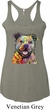 Beware of Pit Bulls Ladies Tri Blend Racerback Tank Top