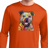 Beware of Pit Bulls Mens Moisture Wicking Long Sleeve Shirt