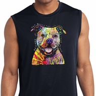 Beware of Pit Bulls Mens Sleeveless Moisture Wicking Shirt